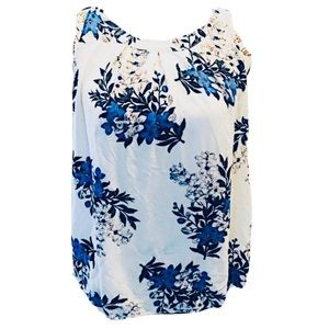 Sweet Rain blues floral shabby chic top